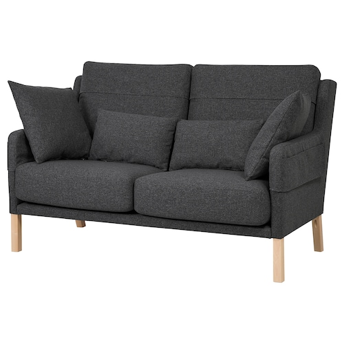 OMTÄNKSAM 2-seat sofa Gunnared dark grey 101 cm 92 cm 160 cm 95 cm 101 cm 22 cm 5 cm 68 cm 149 cm 58 cm 51 cm