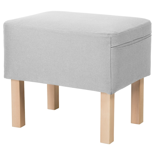 OMTÄNKSAM Footstool, Orrsta light grey