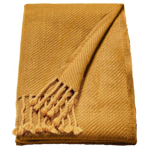 OMTÄNKSAM throw yellow 160 cm 60 cm