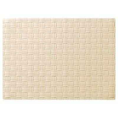 ORDENTLIG Place mat, off-white, 46x33 cm