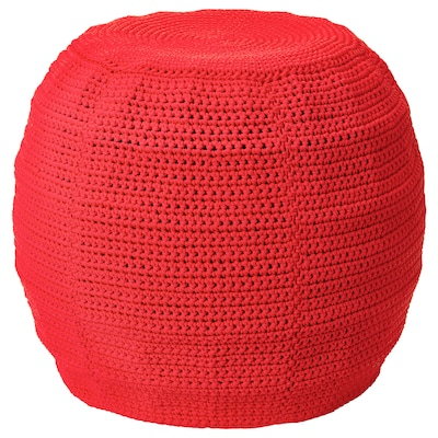 OTTERÖN Pouffe cover, in/outdoor, red, 48 cm