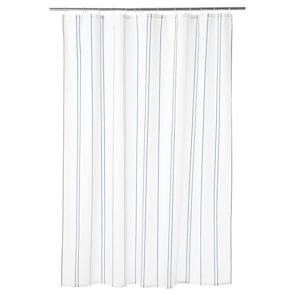 OTTSJÖN shower curtain white/blue 60 g/m² 200 cm 180 cm 3.60 m² 60 g/m²
