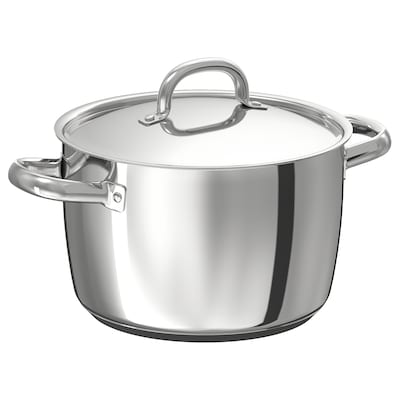OUMBÄRLIG Pot with lid, 5 l