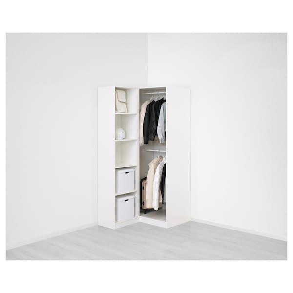 PAX Corner wardrobe, white/Fardal Vikedal, 111/88x201 cm