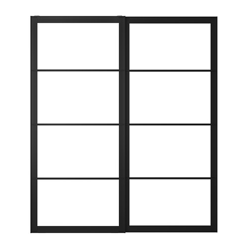 Pax pair of sliding door frames w rail 200x236 cm ikea - Portes dressing ikea ...