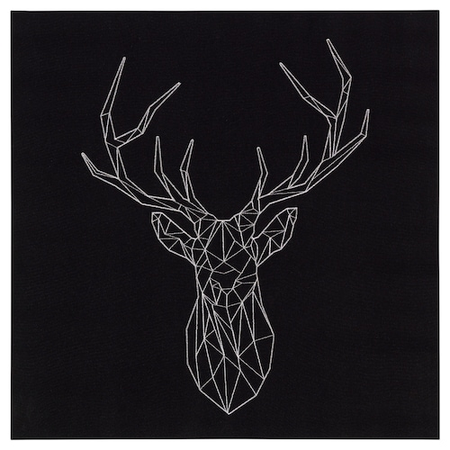 PJÄTTERYD picture silver deer 56 cm 56 cm