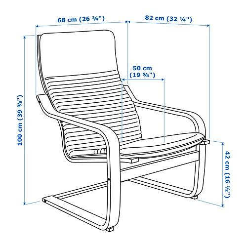 Poäng Armchair Ransta Red Ikea