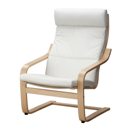 POÄNG Armchair   Easy to keep clean; removable, machine washable cover.  Layer-glued, bent birch frame provides relaxing resilience.