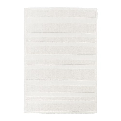 RAMSKÄR Bath mat   Flat woven and loop pile cotton; adds softness and texture to the mat.