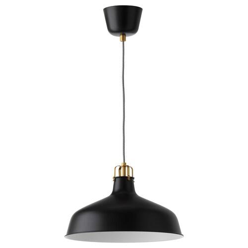 RANARP pendant lamp black 22 W 38 cm 1.6 m