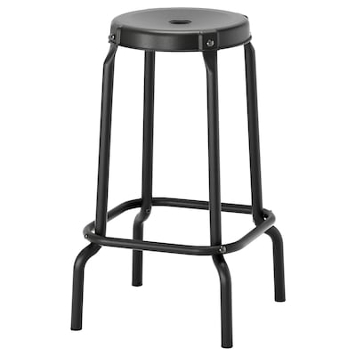 RÅSKOG Bar stool, black, 63 cm