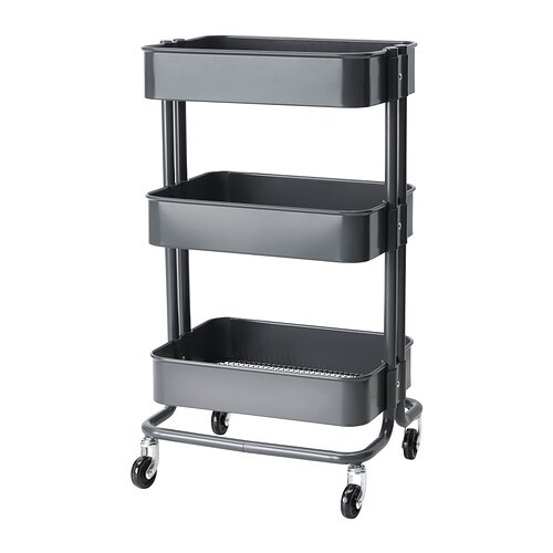 RÅSKOG Kitchen trolley   The sturdy construction and four castors make it easy for you to move the trolley and use it wherever you like.