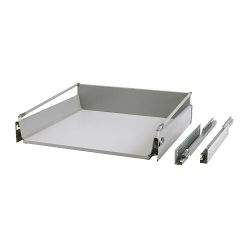 RATIONELL Deep fully-extending drawer   Fully-extending drawer; for easy overview and access to the contents.
