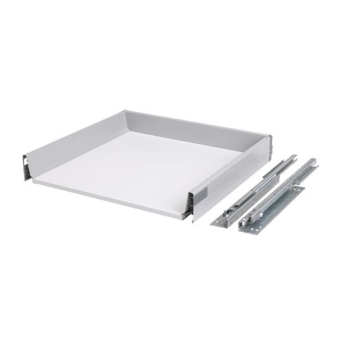 RATIONELL Fully-extending drawer   Fully-extending drawer; for easy overview and access to the contents.  Smooth-running drawer with drawer stop.