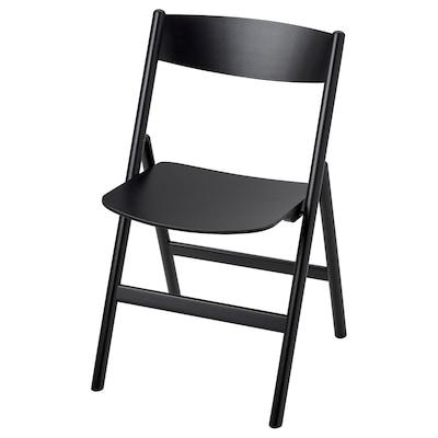 RÅVAROR Folding chair, black