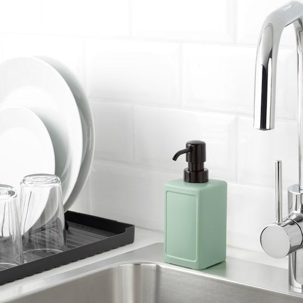 RINNIG Soap dispenser, green, 450 ml