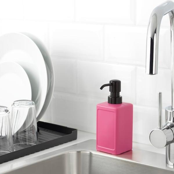 RINNIG Soap dispenser, pink, 450 ml