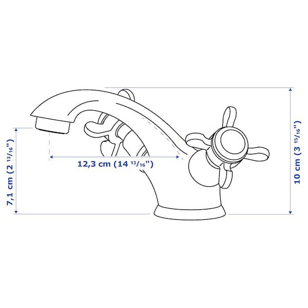 RUNSKÄR Wash-basin mixer tap with strainer, brass-colour