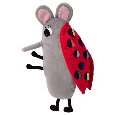 SAGOSKATT Soft toy, ladybug mouse
