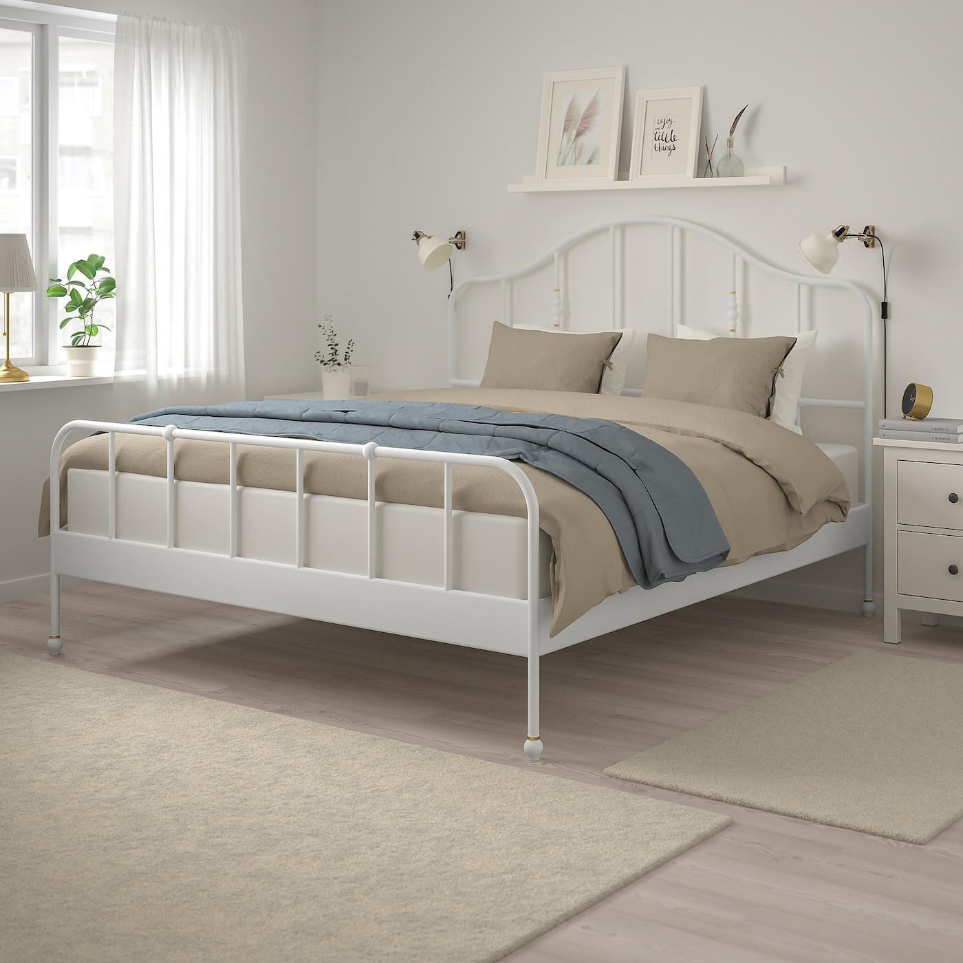 Sagstua Bed Frame White Lönset Ikea