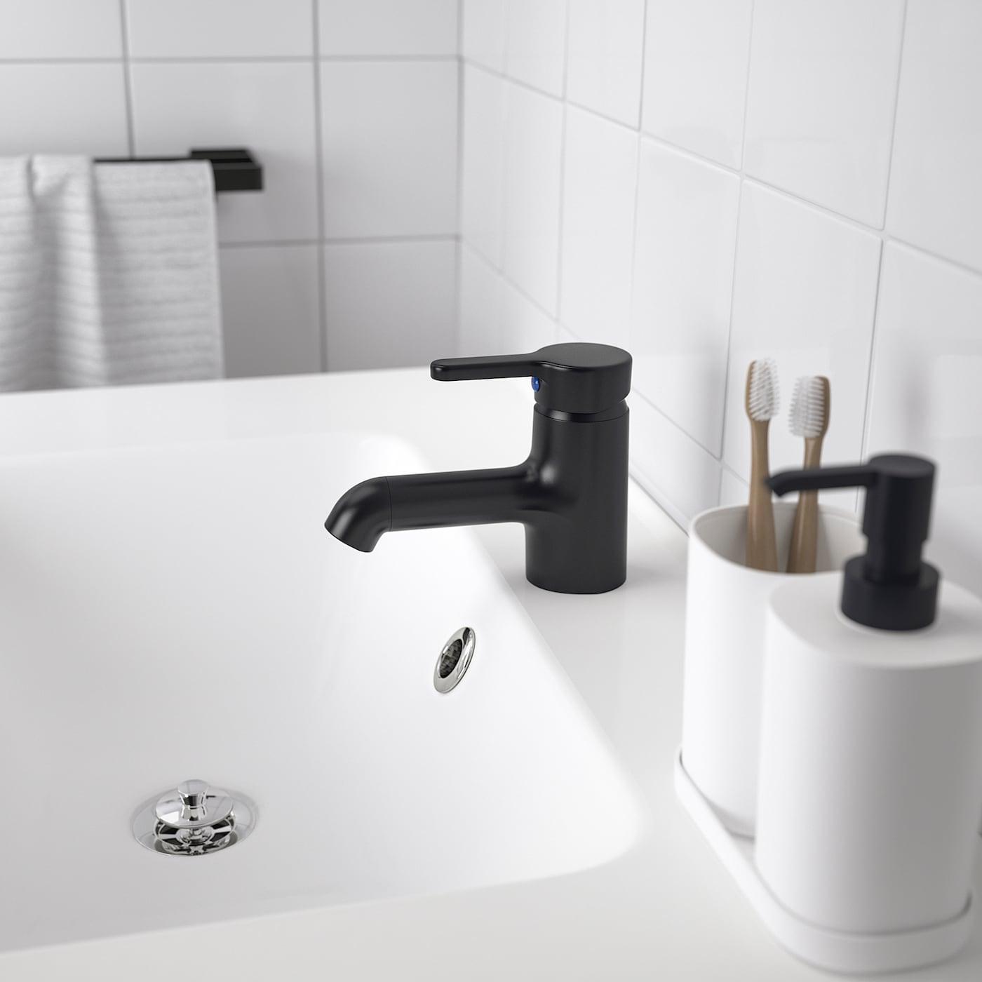 SALJEN Wash-basin mixer tap, black