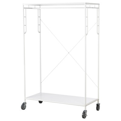 SAMMANKOPPLA Clothes rack, white, 113x50 cm