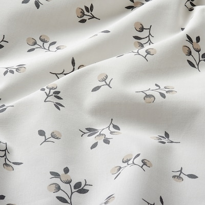 SANDLUPIN Fitted sheet, floral patterned, 150x200 cm