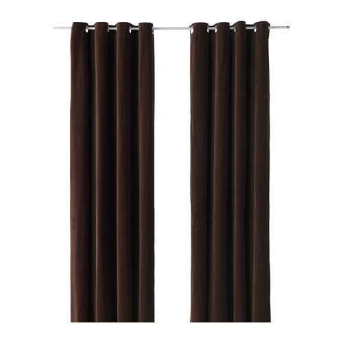 SANELA Curtains, 1 pair   The thick curtains darken the room and provide privacy by preventing people outside from seeing into the room.