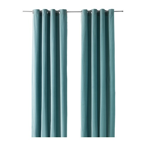 SANELA Curtains, 1 pair   Thick fabric helps to darken the room and reduce sound.
