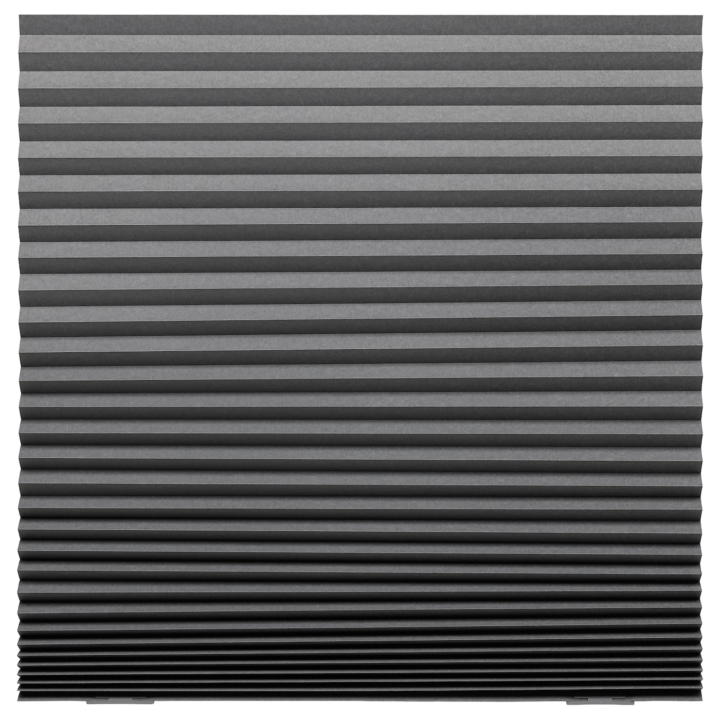Polyester Made-IKEA-Brand New White//Dark grey SCHOTTIS Block-out pleated blind
