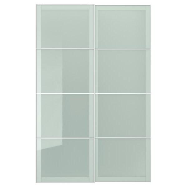 SEKKEN pair of sliding doors frosted glass 150.0 cm 236.0 cm 8.0 cm 2.3 cm