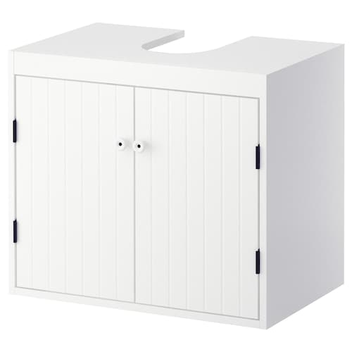 SILVERÅN wash-basin base cabinet w 2 doors white 60 cm 38 cm 51.3 cm