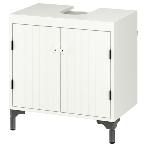SILVERÅN wash-basin base cabinet w 2 doors white 60 cm 38 cm 62.8 cm