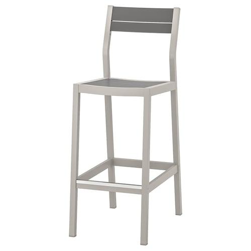 IKEA SJÄLLAND Bar stool with backrest, outdoor
