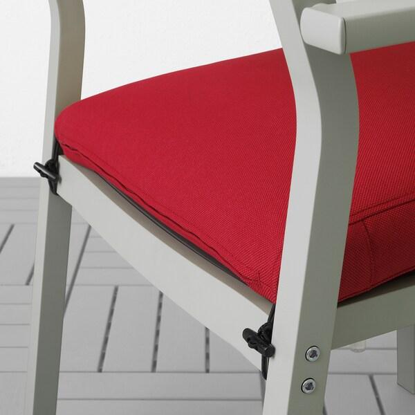 SJÄLLAND table+2 chairs+ bench, outdoor glass/Frösön/Duvholmen red 156 cm 90 cm 73 cm