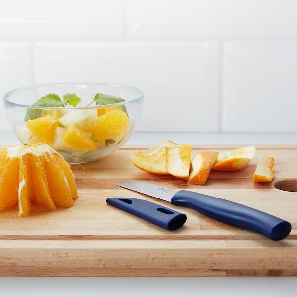 SKALAD Paring knife, blue, 7 cm