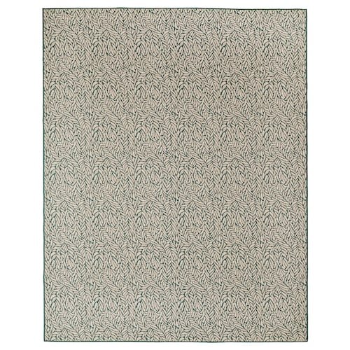 SKELUND rug flatwoven, in/outdoor green-beige 250 cm 200 cm 4 mm 5.00 m² 1295 g/m²