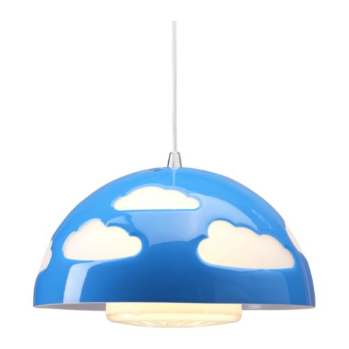 SKOJIG Pendant lamp   Safety tested and tamper-proof to protect little fingers.  Gives a good general light.