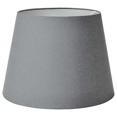 SKOTTORP Lamp shade, grey, 42 cm