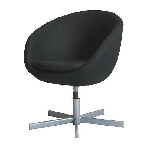 SKRUVSTA Swivel armchair   Height adjustable armchair; swivels to the desired height.  Slim lines, easy to place.