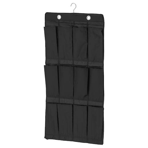 SKUBB hanging shoe organiser w 16 pockets black 55 cm 7 cm 150 cm 115 cm