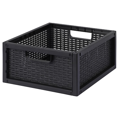 SKYFFEL Basket, plastic black, 33x37x16 cm