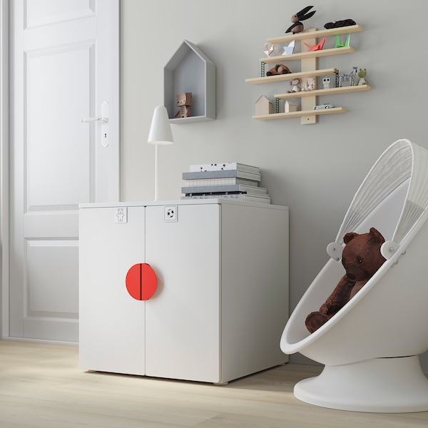 SMÅSTAD / PLATSA Cabinet, white white/with 1 shelf, 60x57x63 cm
