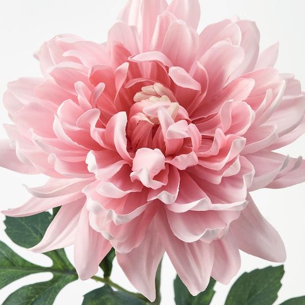 SMYCKA Artificial flower, Dahlia/light pink, 75 cm