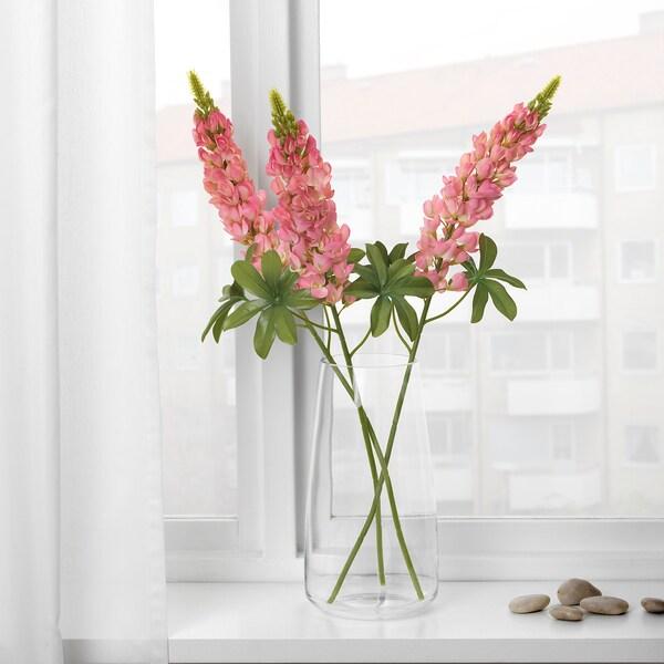 SMYCKA Artificial flower, Lupin/dark pink, 74 cm