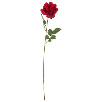 SMYCKA Artificial flower, rose/red, 75 cm