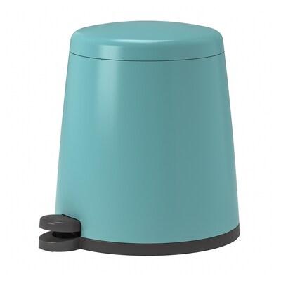SNÄPP Pedal bin, blue, 12 l
