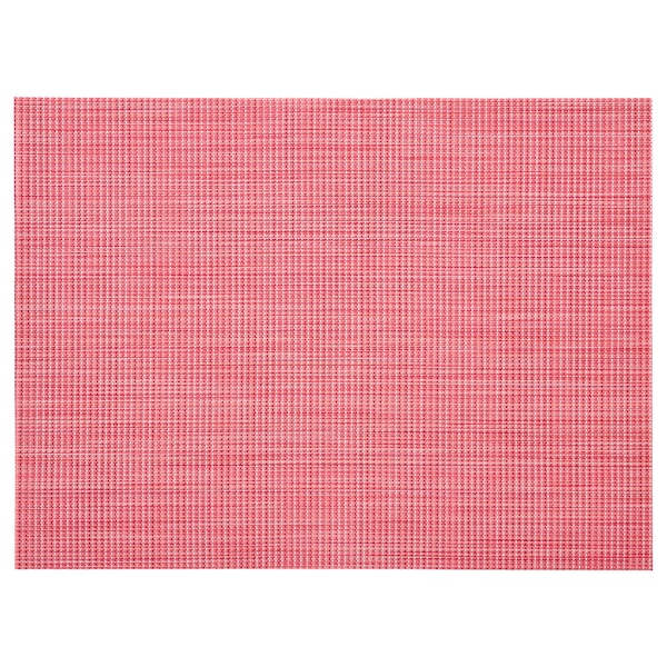 SNOBBIG place mat light red 45 cm 33 cm