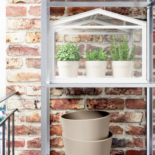 SOCKER greenhouse white 45 cm 22 cm 35 cm