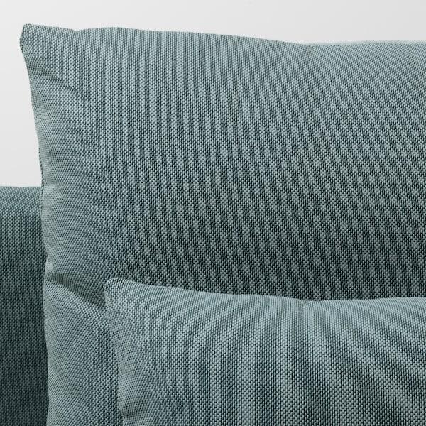 SÖDERHAMN 2-seat sofa, with chaise longue/Finnsta turquoise